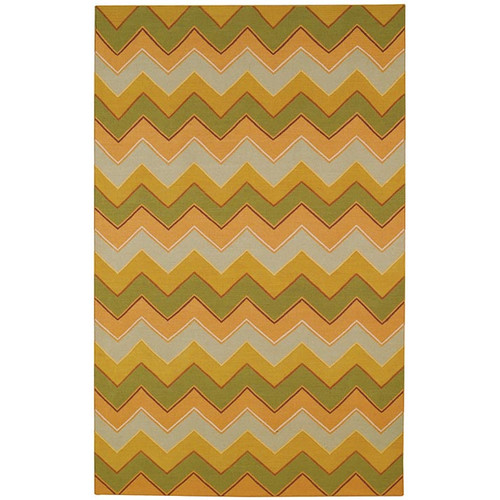 Capel Rugs Irish Stitch Honey/Moss Outdoor Area Rug