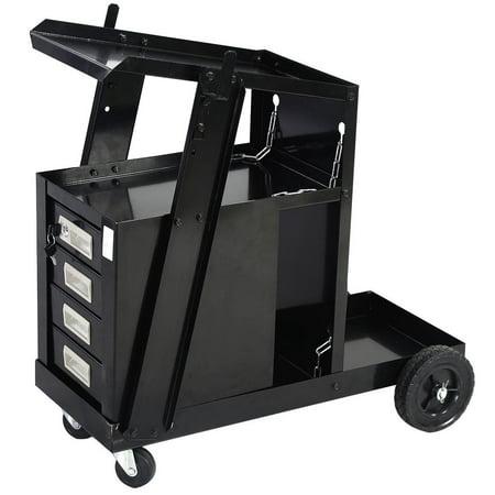Ktaxon Mig Tig Gas Flux Welding Welder Trolley Tank Carts Machine Equipment with 4 Drawers, Sliding