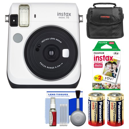 Fujifilm instax mini 70 instant film camera white with for Housse instax mini 70
