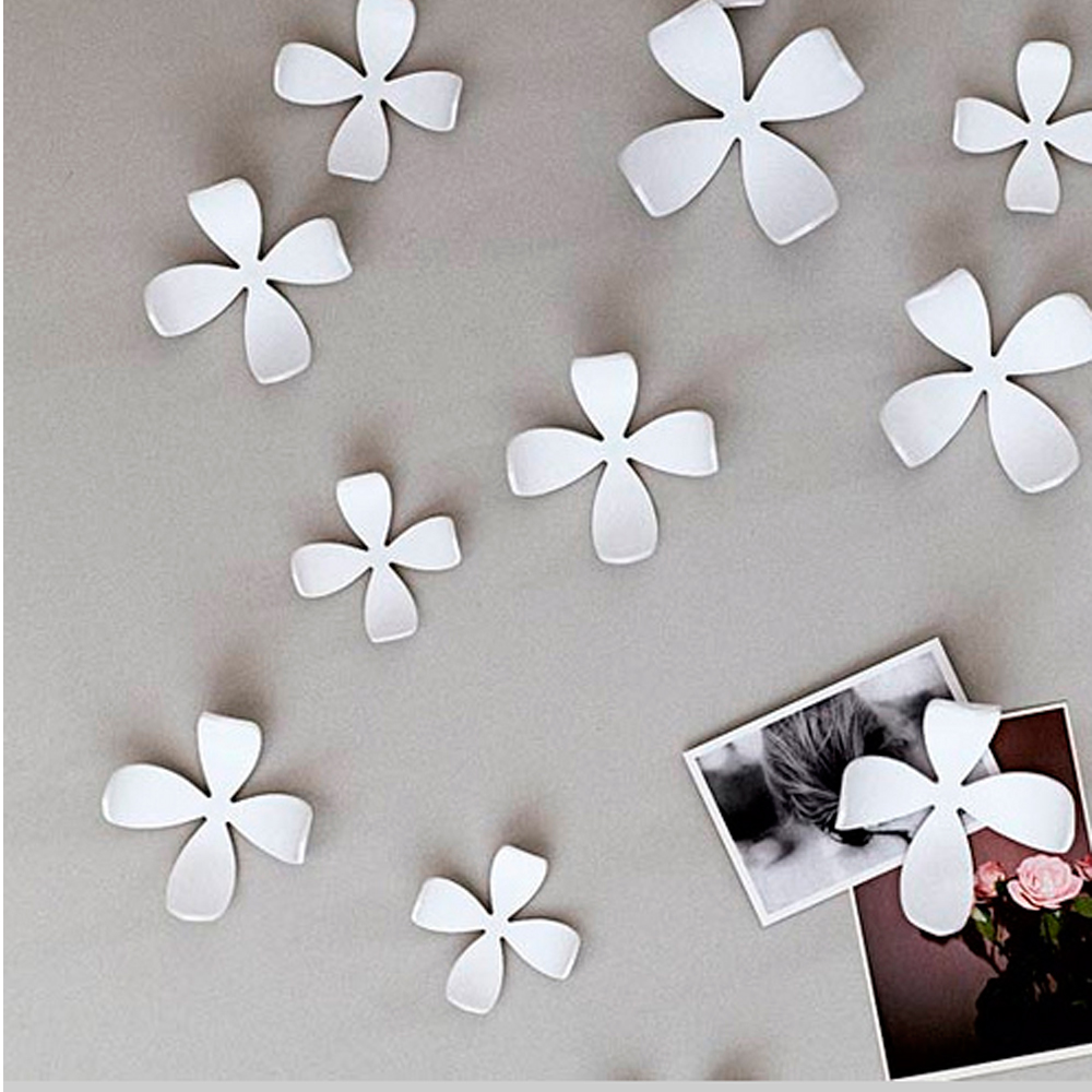 Wall Decor Flowers umbra wallflower wall decor 25 flowers white diy nature art home