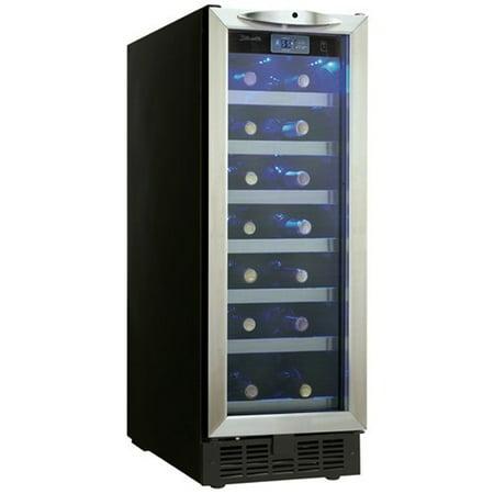 Danby DWC276BLS 27-Bottle Silhouette Wine Cellar - Black/Stainless [Black/Stainless]