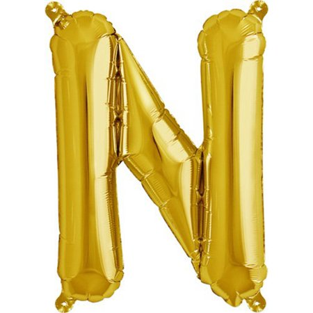 Hot Sale New New Mylar Foil Balloons Letters A Z Alphabet or Number Wedding Party Decoration Letter N Gold 16inches (Letter Mylar Balloons)