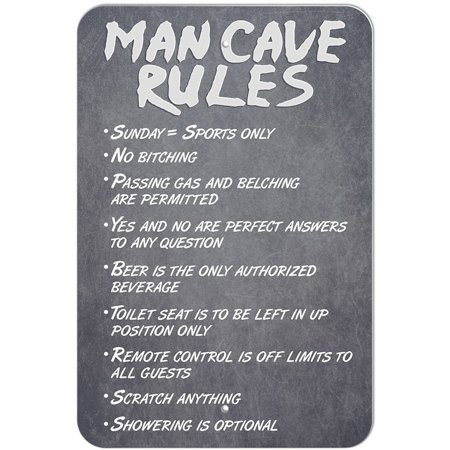 Man Cave Rules Sign (Best Small Man Caves)