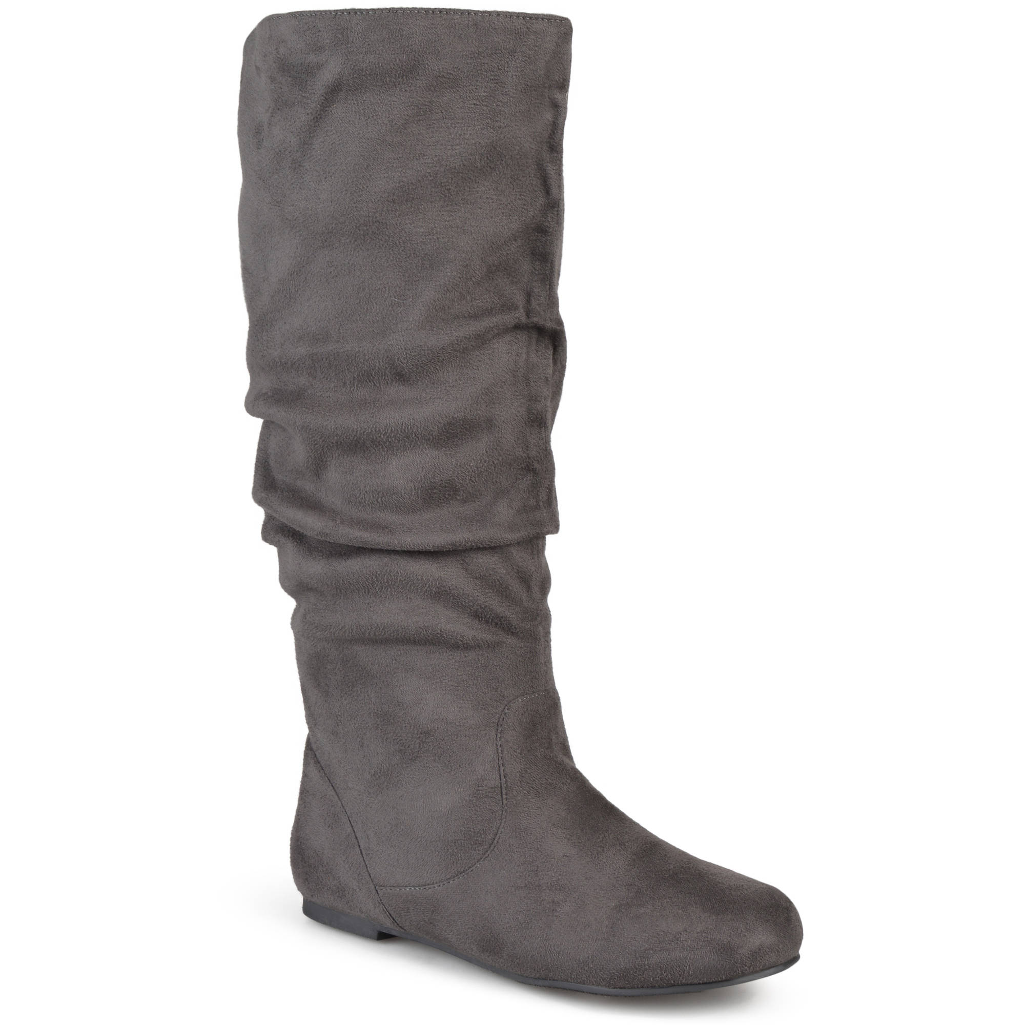 Brinley Co. Women's Slouchy Microsuede Wide Width Tall Boots