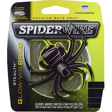 Spiderwire Stealth Glow Vis Braid Fishing Line Walmart Com
