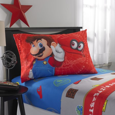 Maria Sheet Set - Nintendo Super Mario 'Odyssey Fun' Kids Bedding Sheet Set, Full