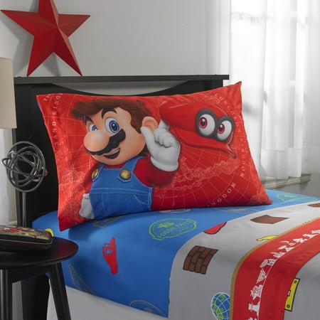 Nintendo Super Mario Odyssey Fun Kids Bedding Sheet Set