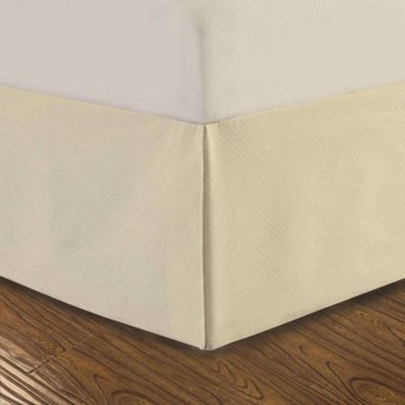 "Dreamspace Diamond Matelasse Tailored 14"" Bedskirt, Full"