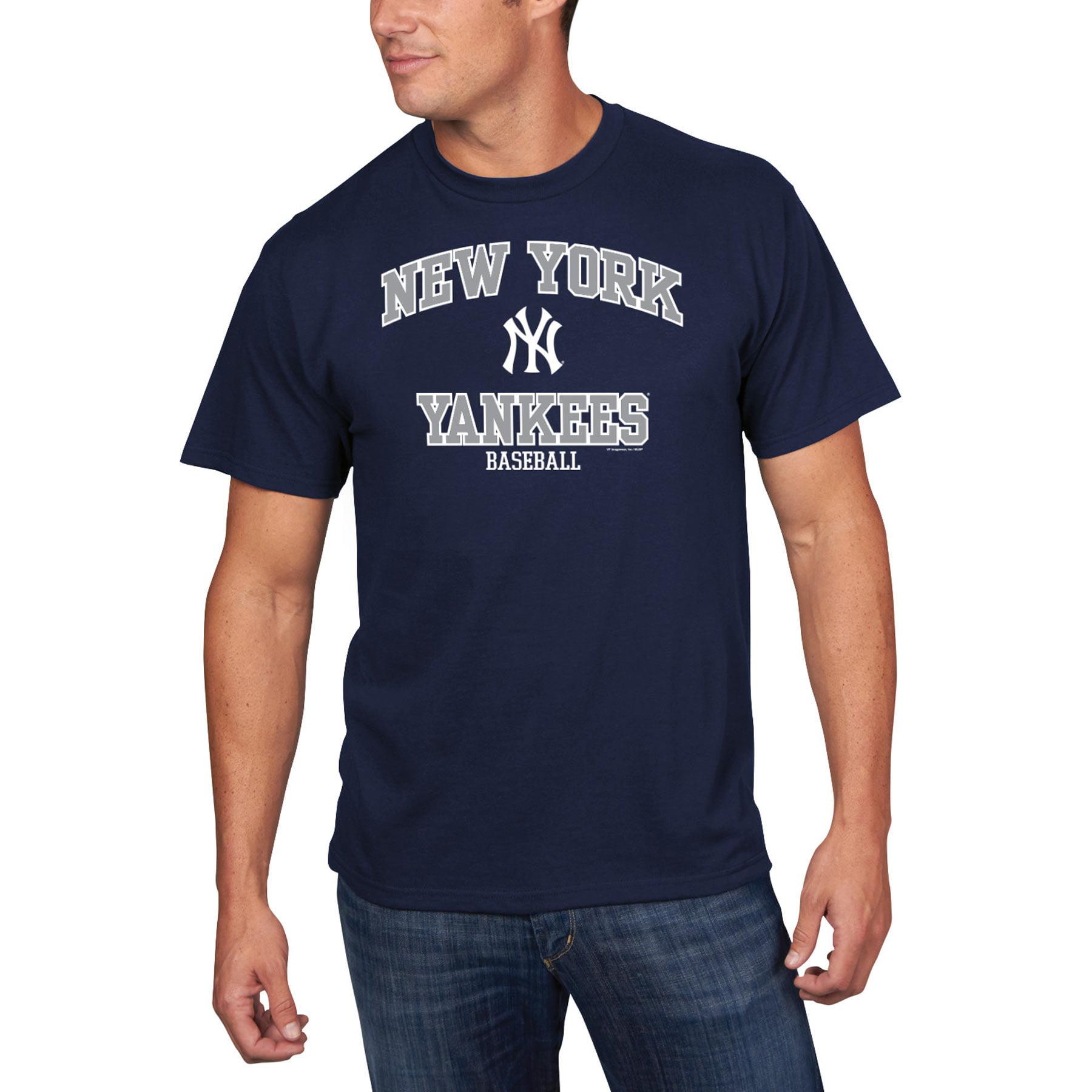 Men's Majestic Navy New York Yankees High Praise T-Shirt