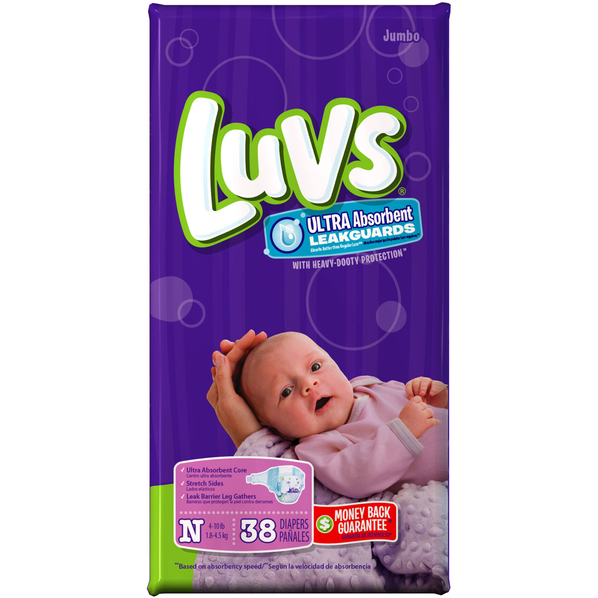 Luvs Ultra-Absorbent Leakguard Diapers, (Choose Your Size)