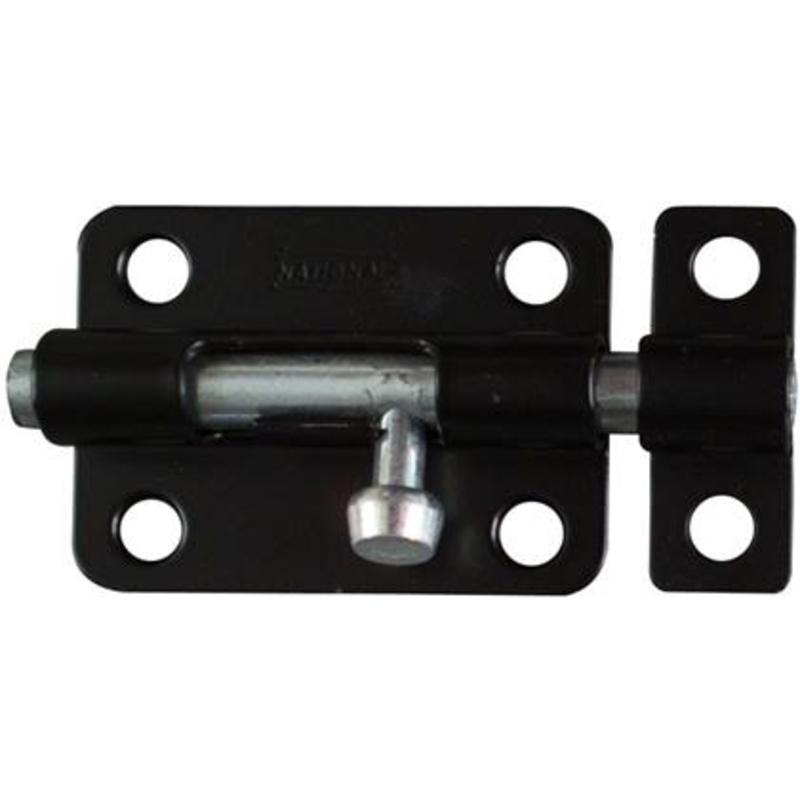"National Black Finish 3"" Barrel Bolt Gate Window Latch National Cabinet Latches"