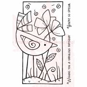 """Woodware Clear Stamps 3.5""""X5.5""""-Special Bird"""