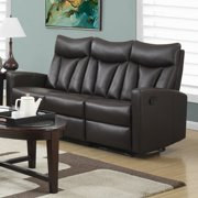 MONARCH - RECLINING - SOFA BROWN BONDED LEATHER