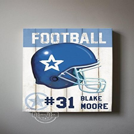MuralMax -Personalized - Football Theme - The Canvas Sporting Event Collection - Size - 10 x 12