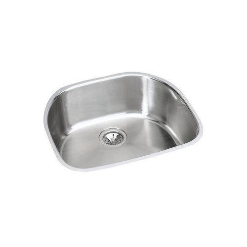 Elkay EGUH211810DBG Harmony Elumina Stainless Steel Single Bowl Undermount Sink Kit