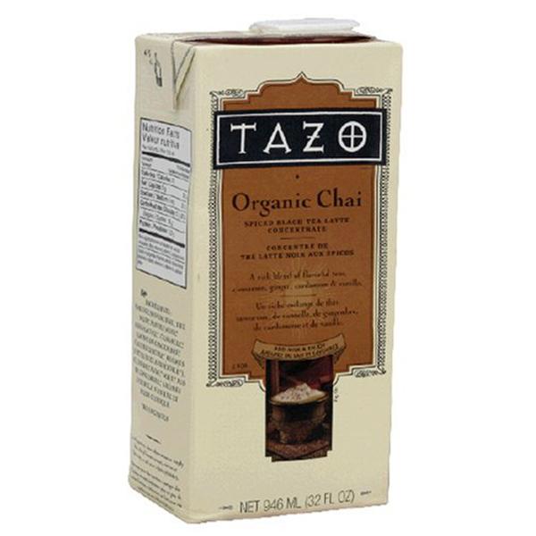 Tazo Latte Concentrate Organic Chai Tea 32 oz Containers ...
