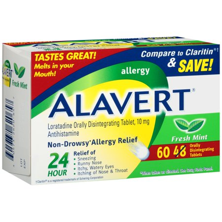 Alavert 24-Hour Non-Drowsy Allergy Relief Orally Disintegrating Tablets in Fresh Mint Flavor, 60