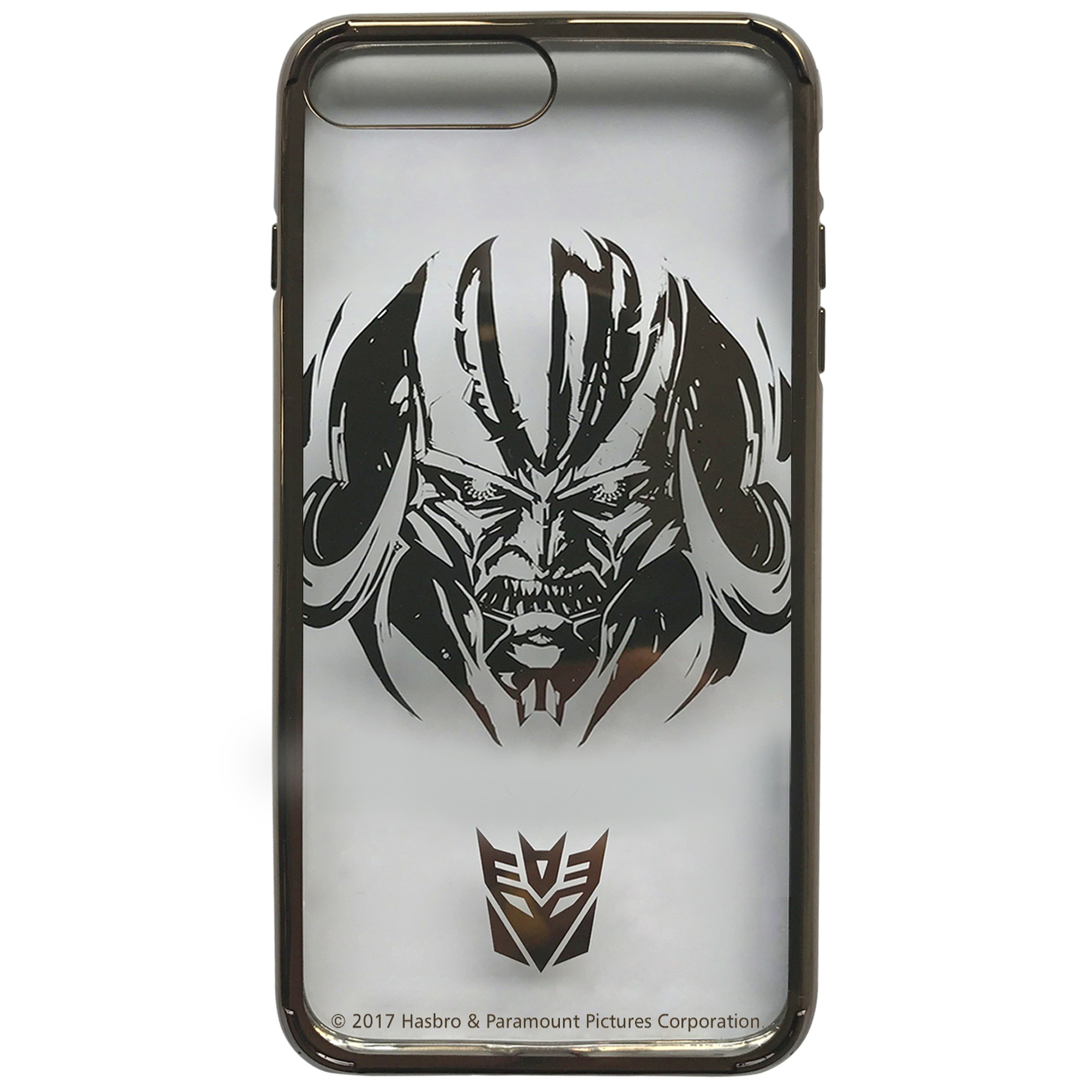Transformers: Licensed Phone Case - MEGATRON BRONZE - Clear PC Snap-On Hard Shell, For iPhone 7, iPhone 8 - Swordfish Tech
