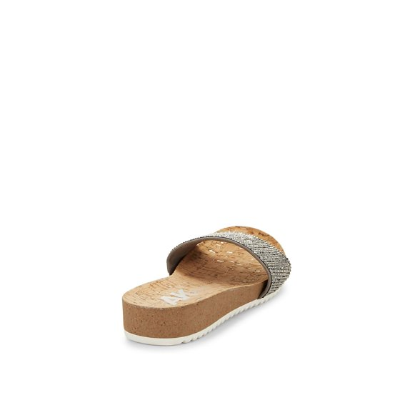 e49ba348505e Anne Klein - Qtee Wedge Slide Sandals - Walmart.com