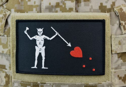 Large Blackbeard Pirate Flag Patch 5 X 3 Navy Seal Team 3 Edward Teach Velcro Walmart Com Walmart Com