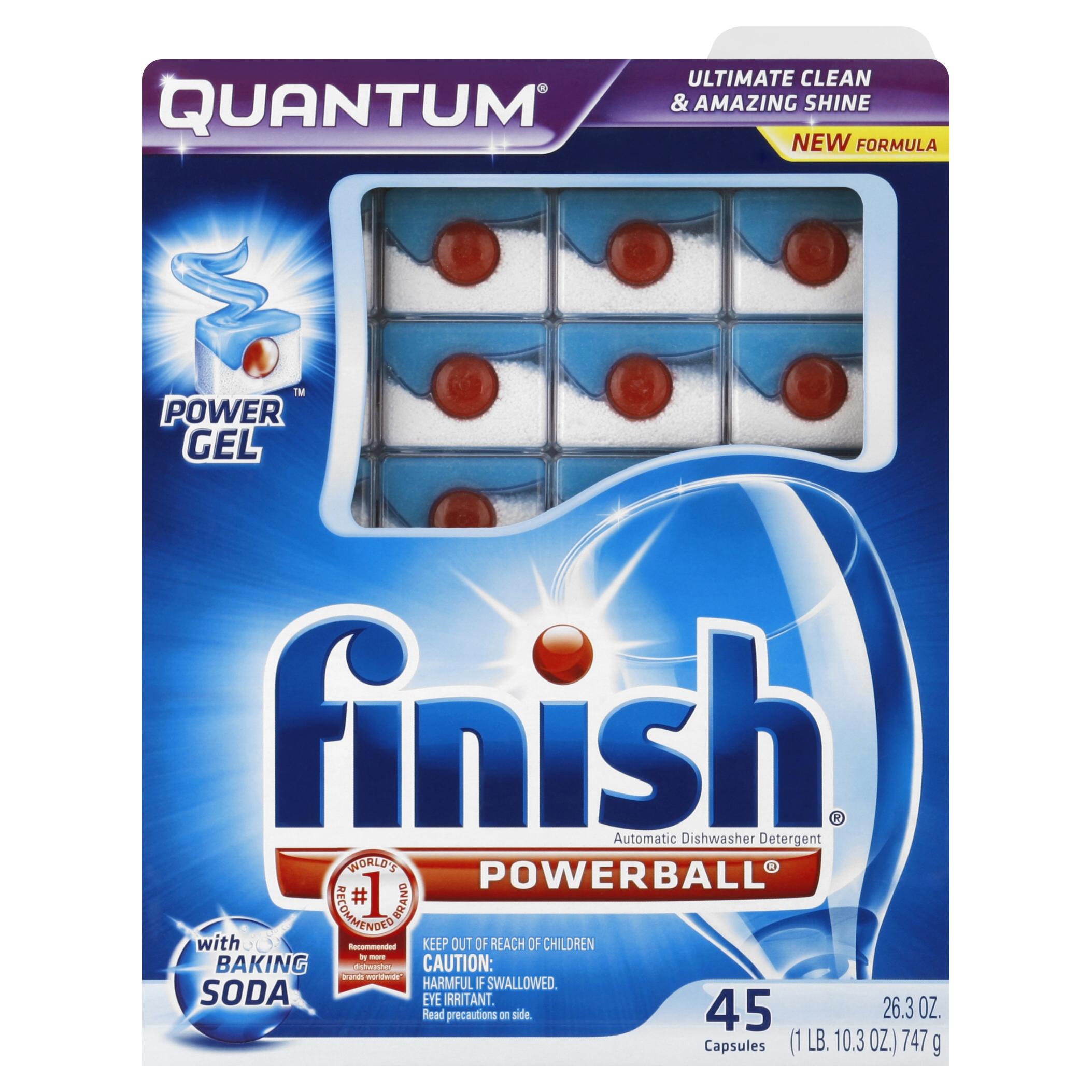 Finish Quantum Dishwasher Detergent with Baking Soda, 45 Count