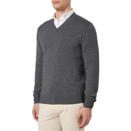 - Bloomingdales Mens 2-Ply Cashmere V-Neck Sweater XX-Large 2XL Ash Grey