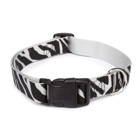 East Side Coll Animal Print Collar 10-16in Zebra
