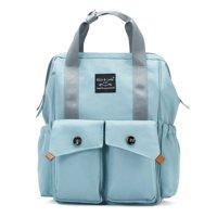 SoHo Collections, Designer Unisex Tote Diaper Bag Backpack with Stroller Straps, 3 Piece Set, Rockaway Beach (Aqua)