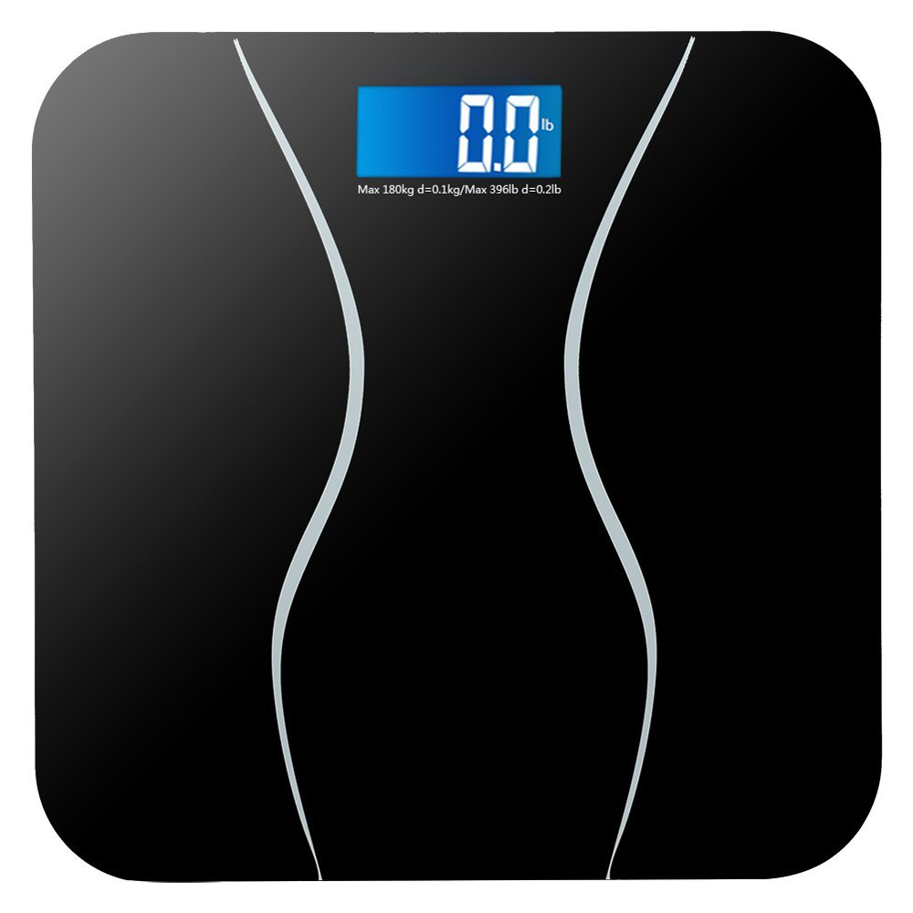 Zimtown New 396LB 180KG Electronic LCD Digital Bathroom Body Weight Scale with Battery
