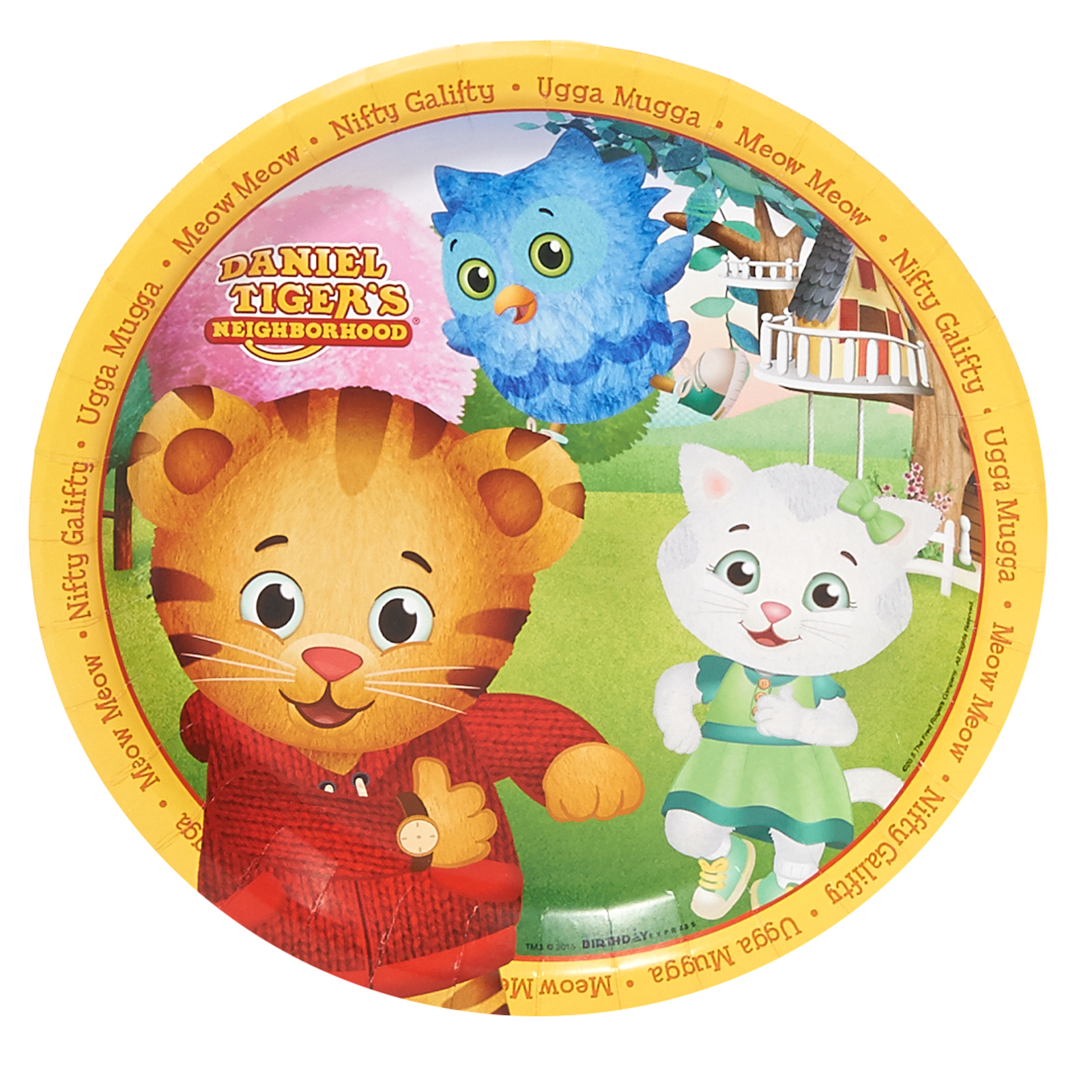 Daniel Tiger'S Neighborhood Party Supplies 16 Pack Lunch Plates