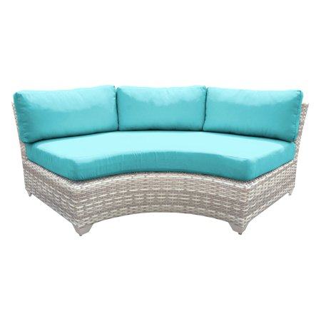- TK Classics Outdoor Wicker Curved Armless Sofa Sectional Piece