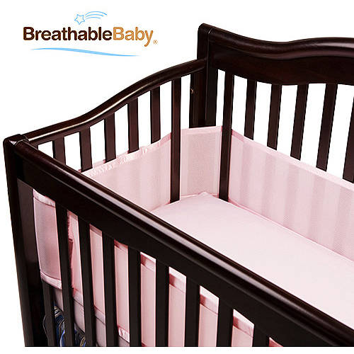BreathableBaby - Breathable Crib Liner, Fits All Cribs, Light Pink