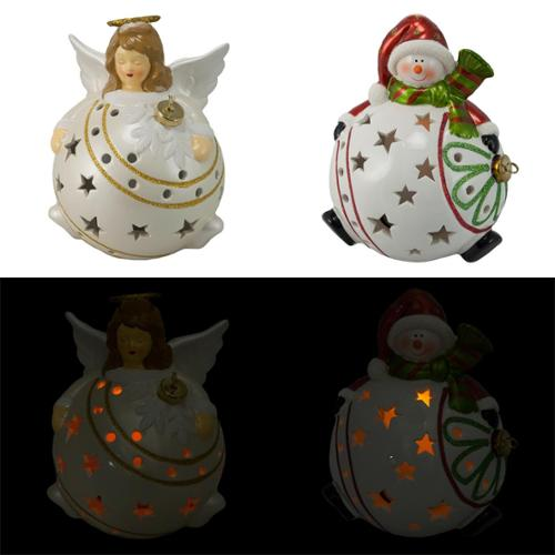 2 Christmas Holiday Flameless Candle Decoration Set Lights Timer Color Change