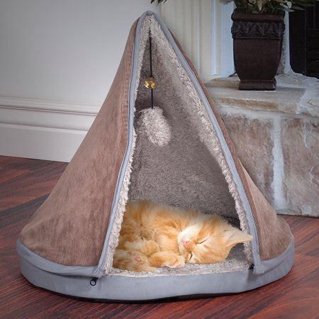 PETMAKER Sleep and Play Cat Bed with Removable Teepee Top