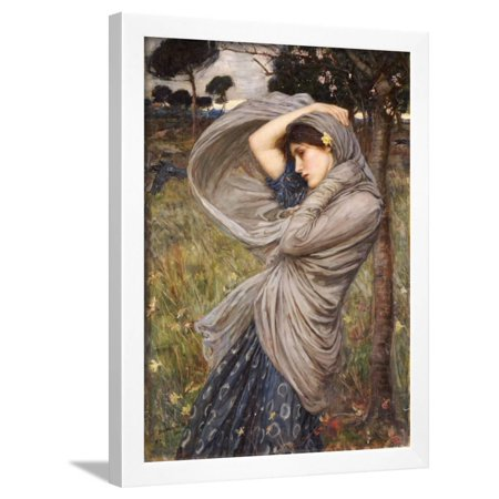 Boreas, 1903 Framed Print Wall Art By John William Waterhouse
