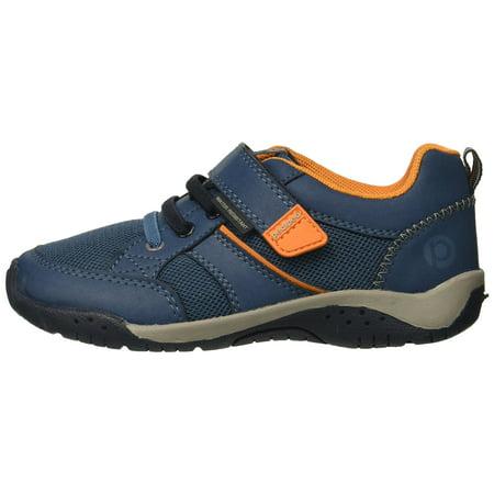 Pediped RS5051: Little Kid's Toddler's Navy Orange Baby Flex Justice Sneaker (24 EU / 8 M US Toddler) Pediped Infant Shoes