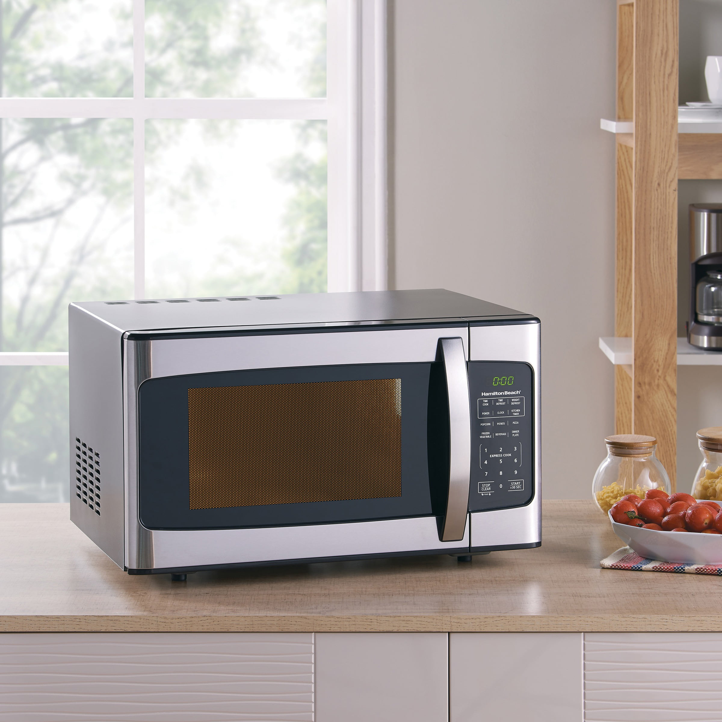 Kitchen Microwave: 1.1 Cu Ft Microwave Oven Countertop Kitchen Counter Led