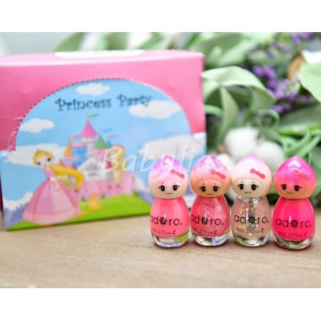 Nail Polish Princess for Girls Gift Party Favors Non-Toxic Adoro Cosmetics 12pcs - Princess Party