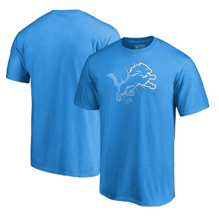Detroit Lions NFL Pro Line by Fanatics Branded X-Ray T-Shirt - Blue