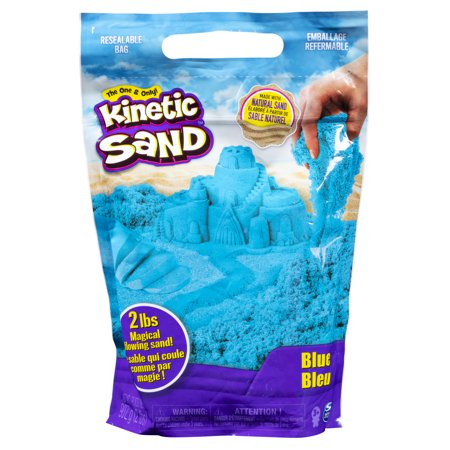 Kinetic Sand the Original Moldable Sensory Play Sand, Blue, 2