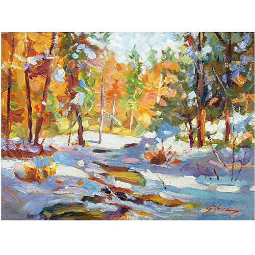 "Trademark Art ""Snowy Autumn"" Canvas Wall Art by David Lloyd Glover"