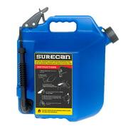 SureCan 5 Gallon 19 Liter Self Venting Kerosene Fuel Can w/ Rotating Spout, Blue