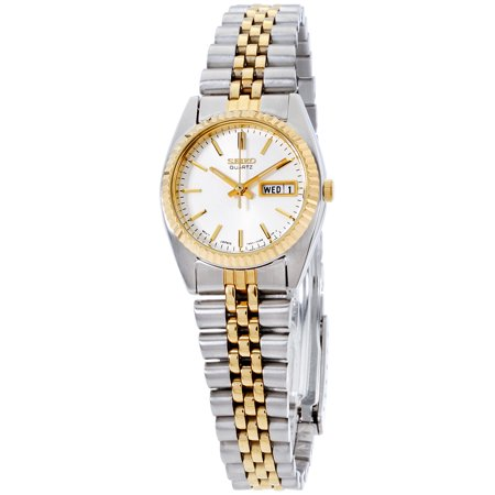 Seiko Dress White Dial Stainless Steel Ladies Watch SWZ054