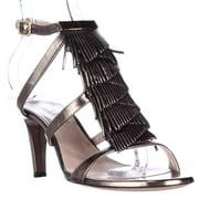 Womens Chloe 24173 Fringe Strappy Dress Sandals - Antique Gold