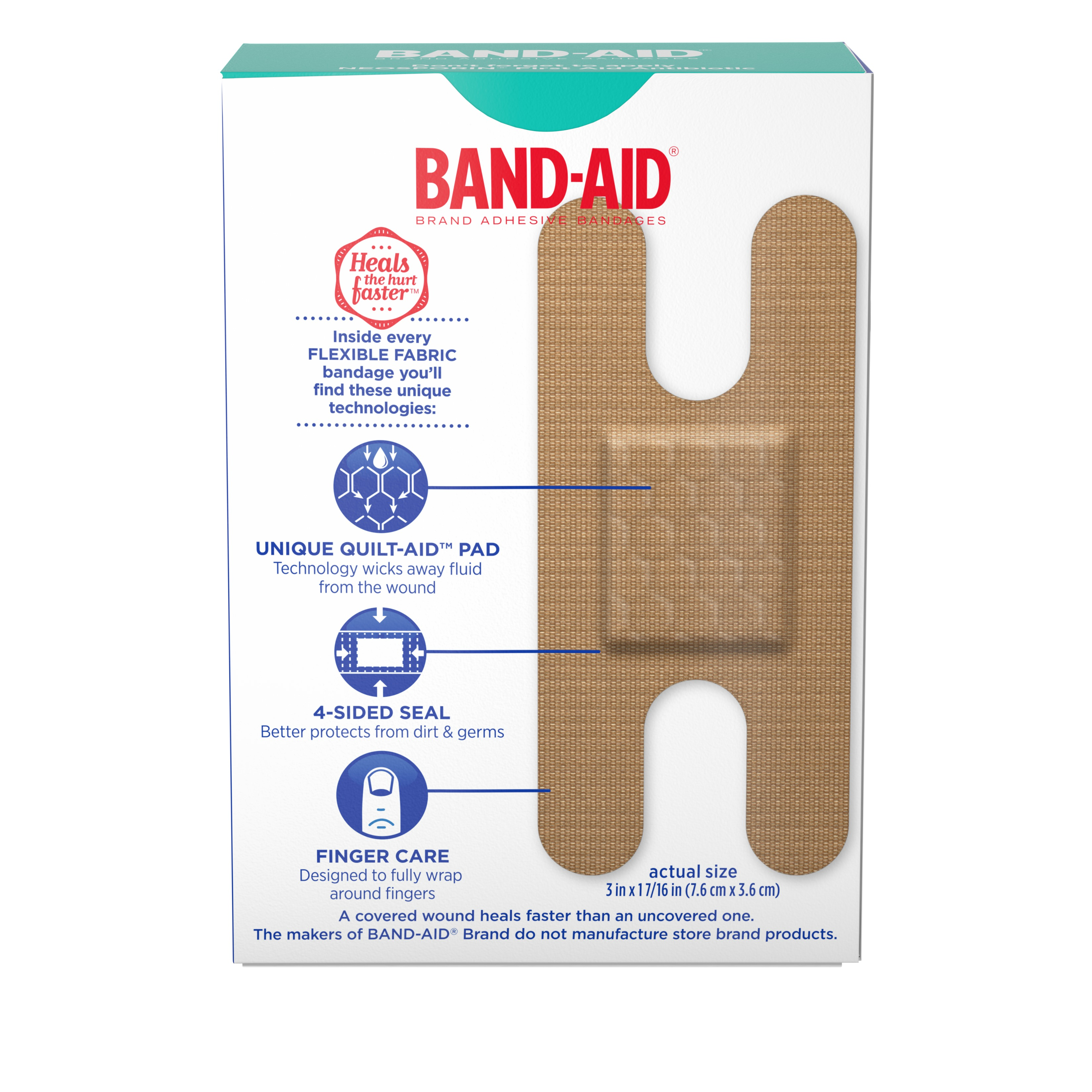 2 Pack Band Aid Brand Flexible Fabric Knuckle And Fingertip Adhesive Bandages For Wound Care Assorted Sizes 20 Count Walmart Com Walmart Com