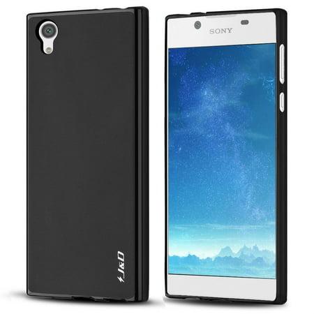Xperia L1 Case, J&D [Drop Protection] [Slim Cushion] [Lightweight Bumper] Shock Resistant Protective TPU Slim Case for Sony Xperia L1 – Black