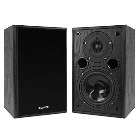 Fluance AV5 Powerful & Dynamic Two-way Bookshelf Speakers fo
