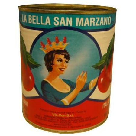 San Marzano Italian Plum Peeled Tomatoes (La Bella) 28 oz (794g) (Italian Plum Tomatoes)