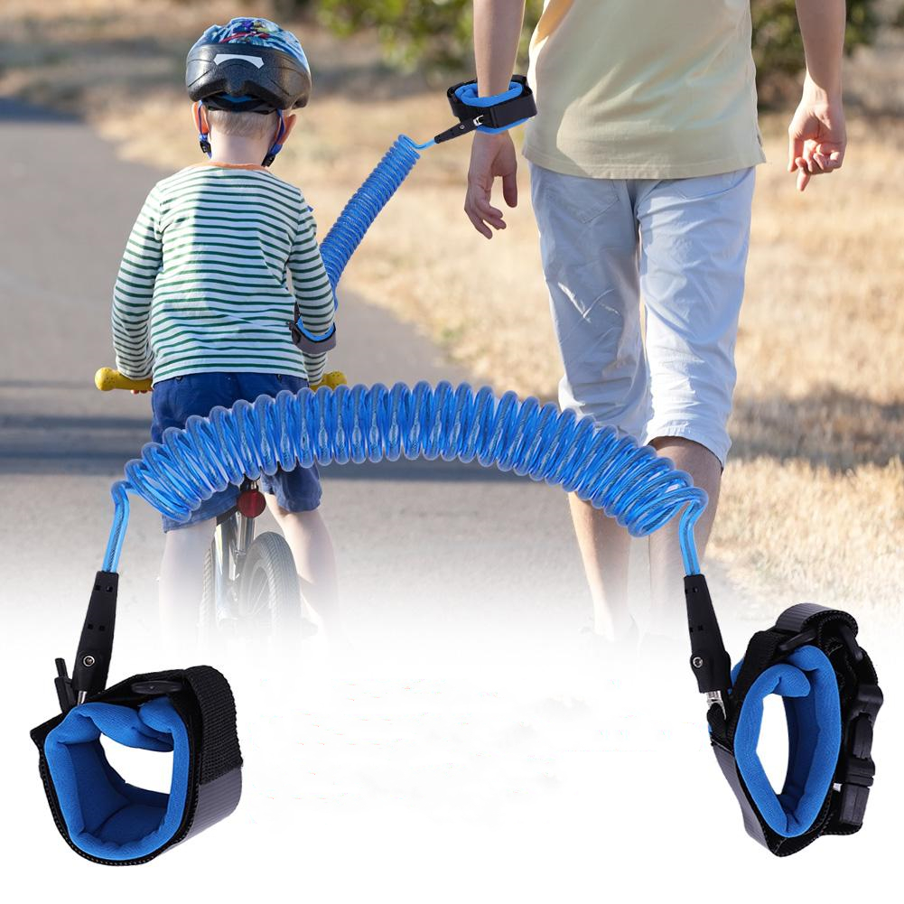 VBESTLIFE 2.5M Baby Kids Anti Lost Wrist Leash with Safety Key Lock Child Toddler Harness Wristband , Walking Safety Leash, Child Safety Leash