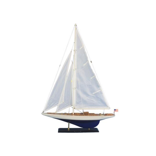 Handcrafted Model Ships ENT-R-35 Wooden Enterprise Model Sailboat Decoration 35 in. by Handcrafted Model Ships